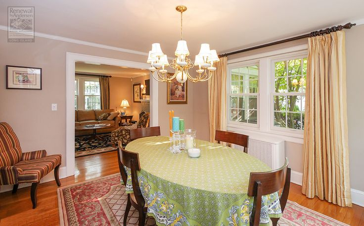 This classy and attractive dining room, as well as the rest of the home, got all new windows  . . . . .  Home Remodeling / Home Improvement / Renovations / Replacement Windows from Renewal by Andersen Long Island