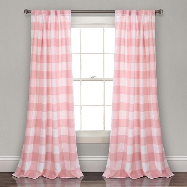 Kelly Checker Room Darkening Curtains