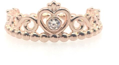 Pandora My Princess Tiara Ring Rose & Clear CZ - 180880CZ-48