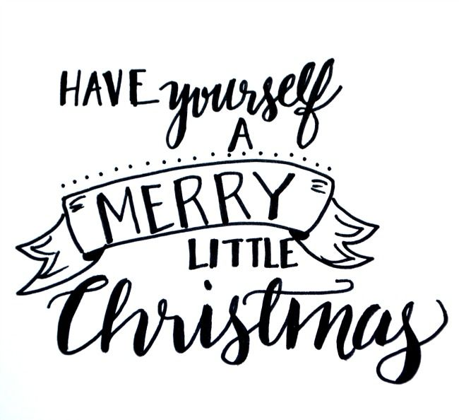 Hand lettered art Christmas