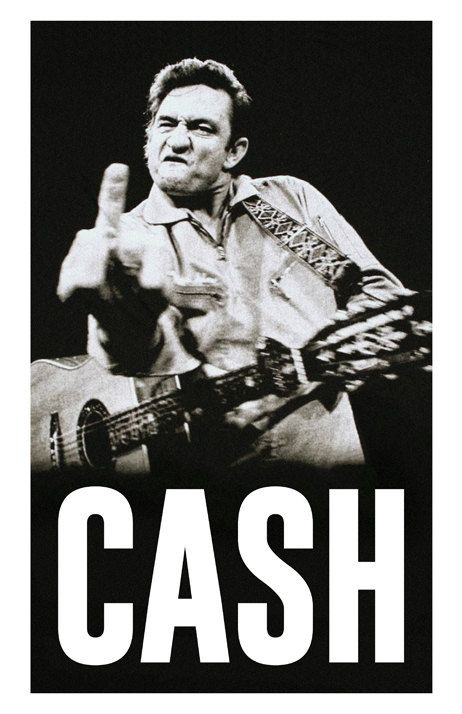 Johnny Cash Custom Poster  Legendary Cash Middle Finger
