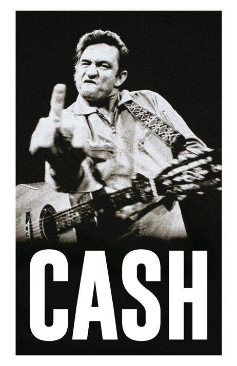 Johnny Cash Custom Poster Legendary Cash by MusicAndArtCoUSA