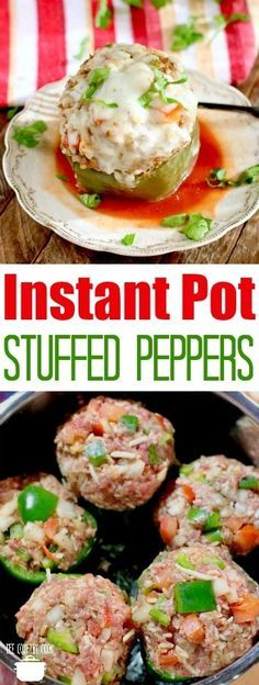 Instant Pot Italian Stuffed Peppers recipe from The Country Cook #dinner #recipes #ideas #dinnerrecipes #InstantPot #easy #groundbeef #rice #pressurecooker