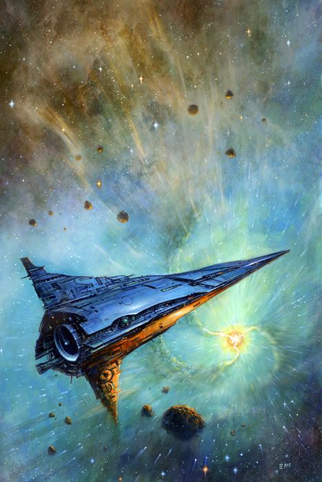 EDWARD MILLER - art for The Best of Larry Niven by Larry Niven - 2010 Subterranean Press