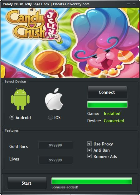 Candy Crush Jelly Saga Hack Tool  http://cheats-university.com/candy-crush-jelly-saga-hack-tool/