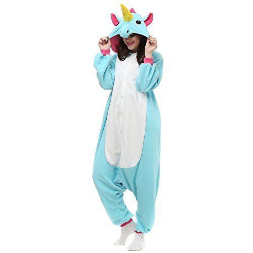 Kenmont Enfants Adulte Unisexe Animal Costume Cosplay Combinaison Licorne Pyjama Nuit Vêtements Soirée de Déguisement: ❤ Kenmont Jumpsuit…