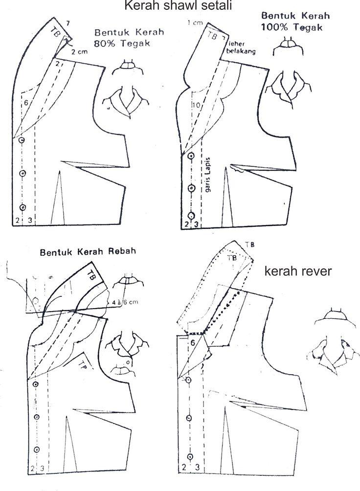 Kerah selendang setali atau disebut juga kerah shawl setali adalah kerah yang digunting bersama dengan bagian badan busana. Desainnya ada ...