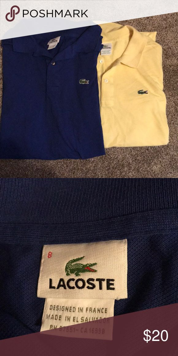Not for sale 2 Lacoste polos 2 Lacoste men's polos. Smoke free home. Size 8 (Equivalent to a xxl) Lacoste Shirts Polos
