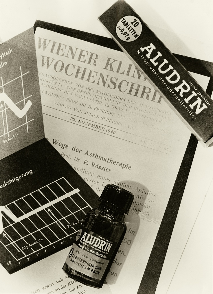 """In 1941, Aludrin® - a respiratory product and new approach in treating asthma -  was launched.  """"Copyright Boehringer Ingelheim"""""""