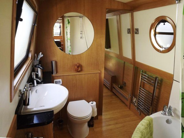 409 best images about narrowboats on pinterest the boat stove and london Small yacht bathroom design