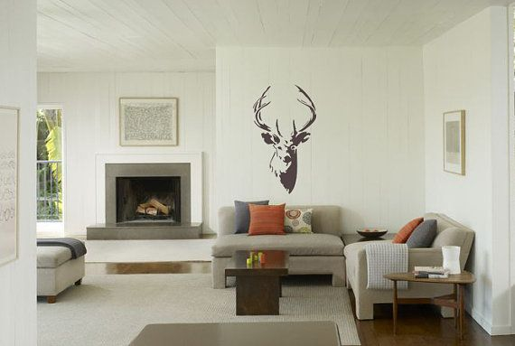 Deer with Antlers reusable STENCIL for home wall by CreateCuts