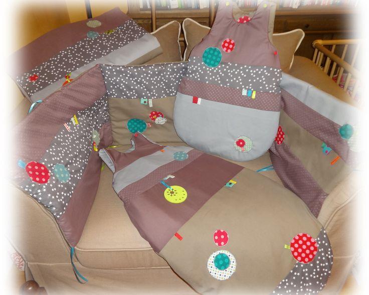 Thème mixte tour de lit + gigoteuses + couverture +housse sur commande : Linge de lit enfants par lilouetpuce