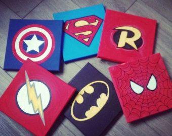 Lona de superhéroe por PortCityPainter en Etsy