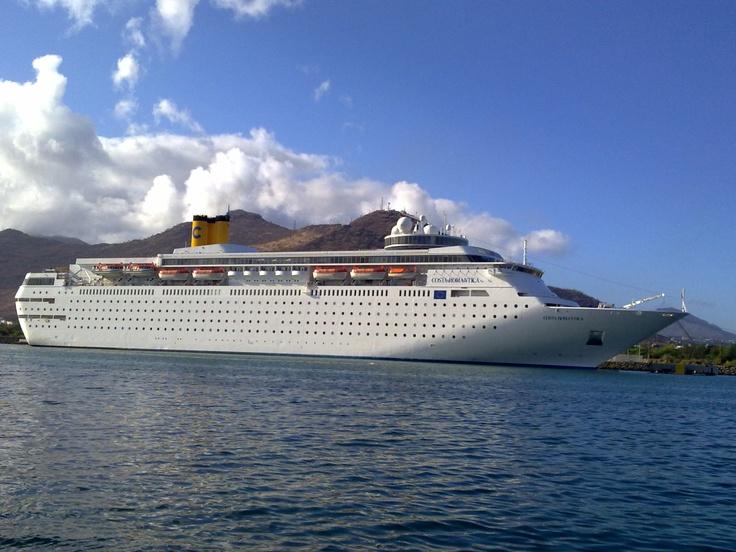 Costa Romantica -1st Mediterranean cruise -departure from Genoa- 2001
