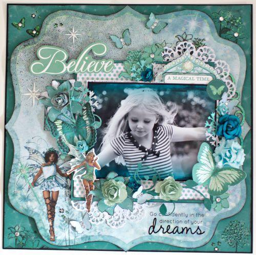 """Believe"" Layout - Fairy Dust - For Kaisercraft By Alicia McNamara"