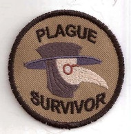 Plague survivor badge. Love this.