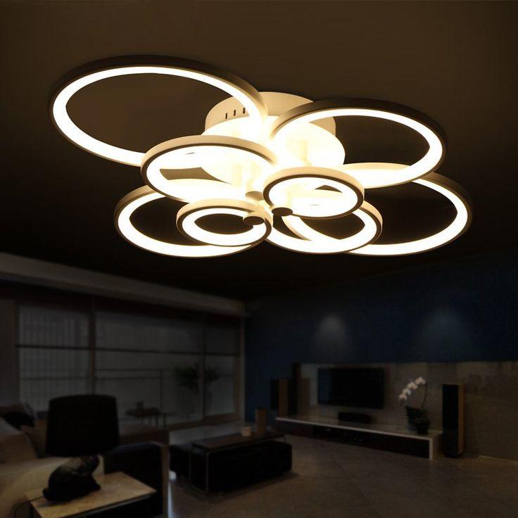 Barato Controle remoto sala quarto luzes de teto modernas luminárias para sala de escurecimento lâmpada do teto deckenleuchten, Compro Qualidade Luzes de teto diretamente de fornecedores da China:                                                                                                 Controle rem