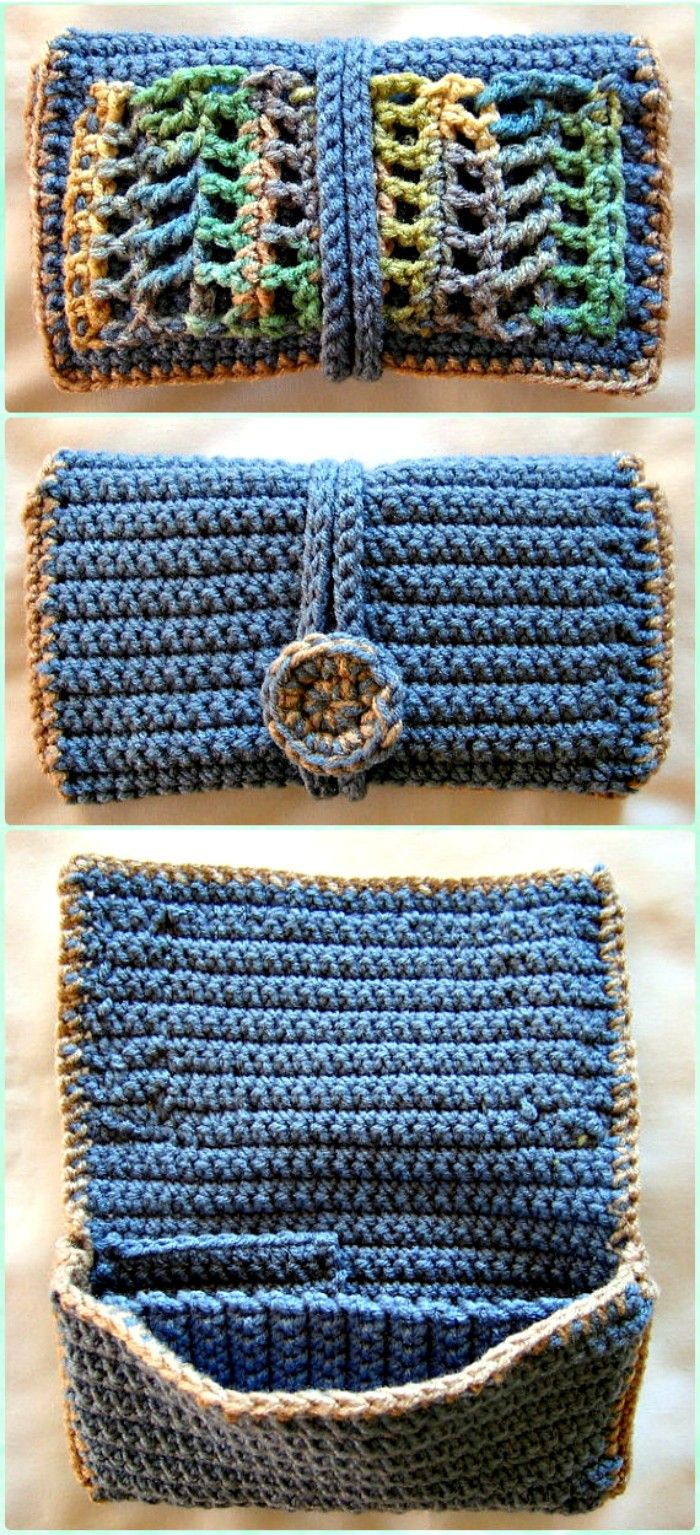 Crochet Clutch Wallet Free Patterns Crochet Clutch Bag Ruang