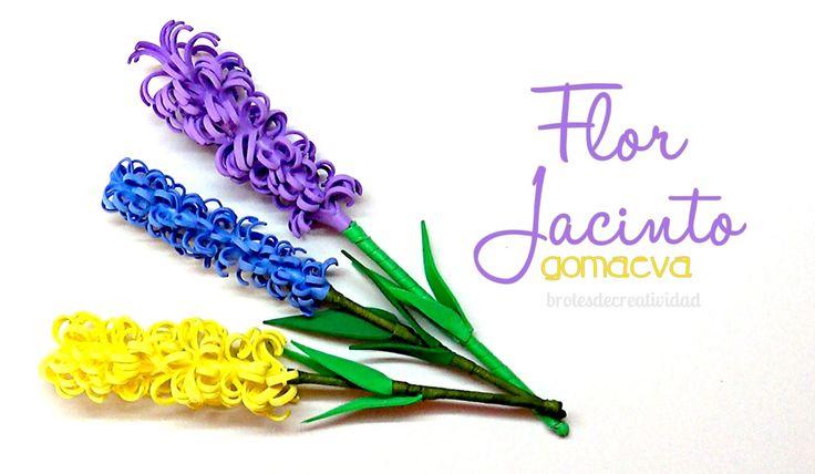 DIY : Flor De Jacinto En Goma Eva - Brotes De Creatividad
