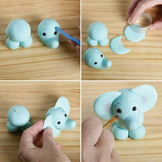 elefant topper f r kuchen elefanten kuchen fondant elefant und fondant cupcakes