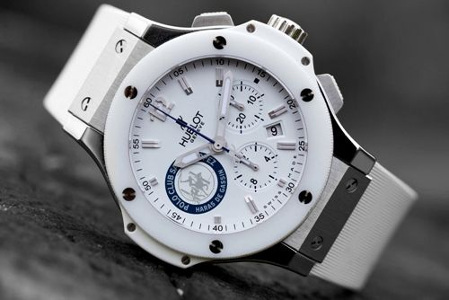 Hublot - white on stainlessBy Club, Club St,  Stop Watches, Wrist Watches, Hublot Big, Big Bangs, St Tropez, Men Watches, Bangs Polo