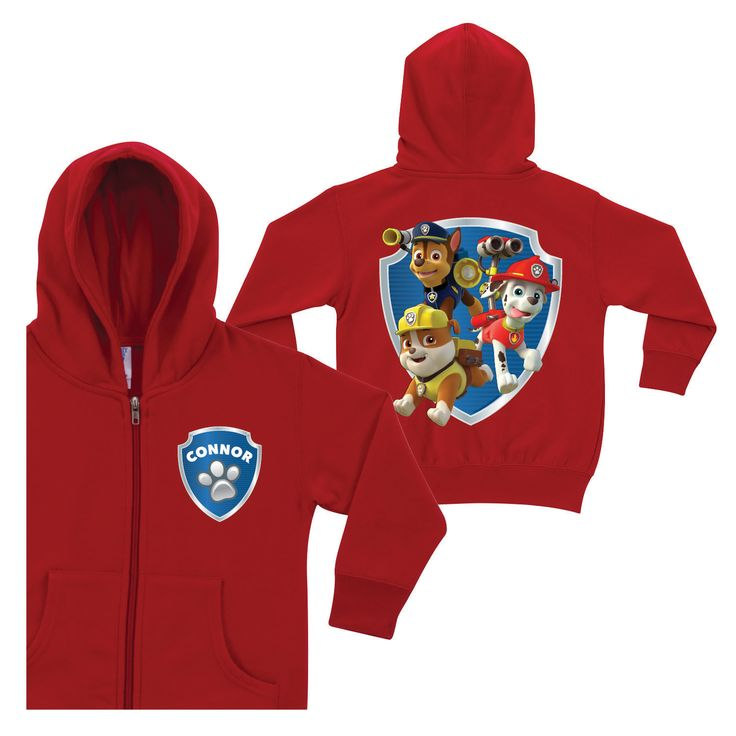 Paw Patrol To The Rescue Red Zip Up Hoodie
