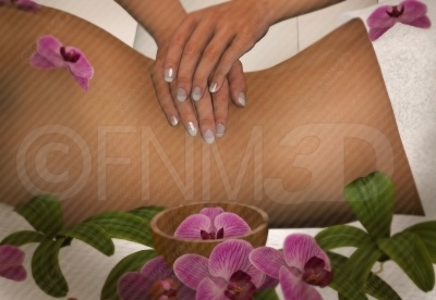3d rendered image of a young woman getting a back massage at the spa. Buy this unwatermarked at http://3dstockimage.com/index.php?user=7297=1