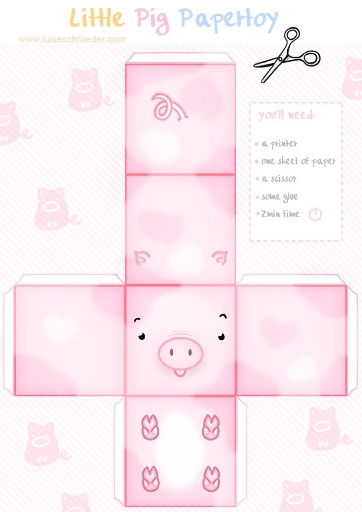 Image detail for -adorable paper pig toy to print   PAPER TOYS - BOXES