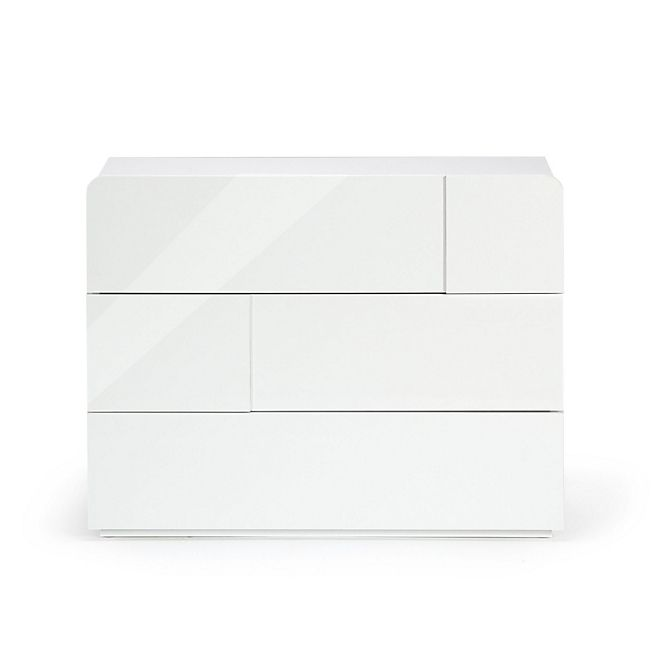 Delia Commode 3 tiroirs blanc laqué