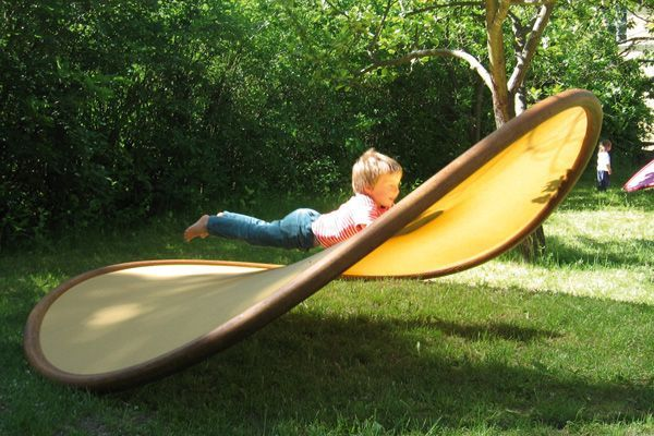 """A """"Shallow Swing"""" Disc, AKA a """"Potato Chip Chair"""" 