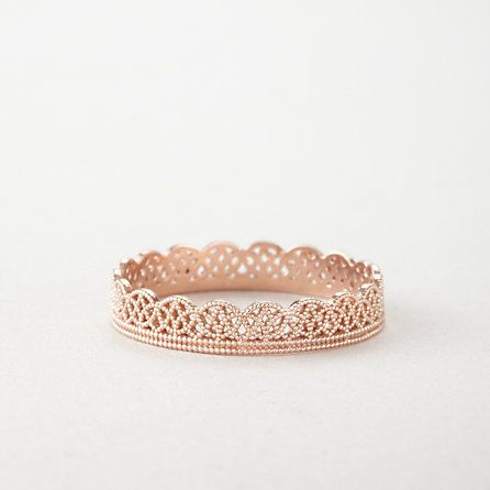 Lace Band in Rose Gold #valentinesday #gift