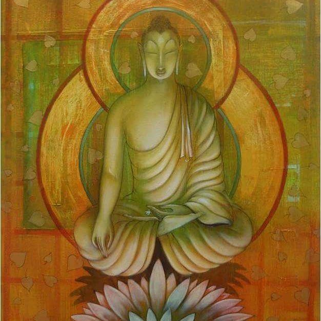 """""""He in whose heart the words of the master have entered, Sees the truth like a treasure in his own palm.""""   ~  Saraha  Artist:  Amritraj Koban  ॐ lis"""