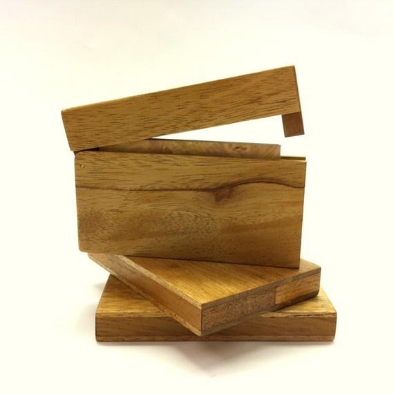 mahogany business card holder
