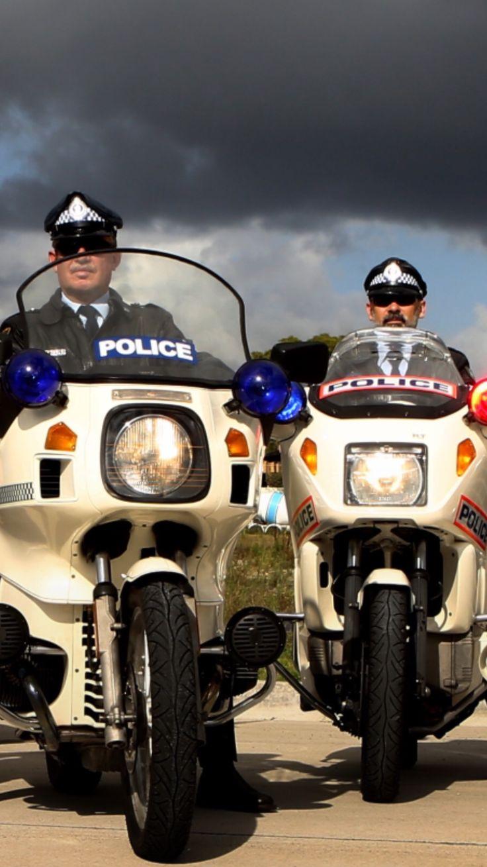 1983 r100 1987 k100 nsw police historic bikes