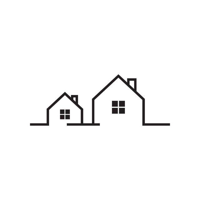 단일 회선 부동산 집 아이콘 템플릿 매체 표지 디자인 한옥 2020 집 로고 부동산 로고 집