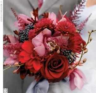 red flowersWedding Colors Schemes, Wedding Color Schemes, Christmas Wedding Flowers