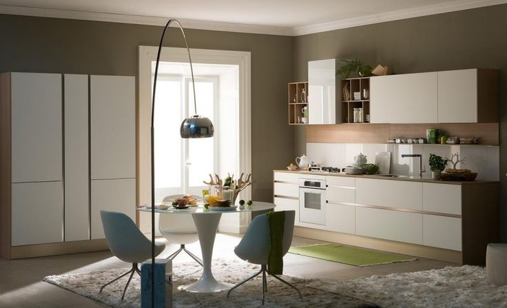 Moderne Küchengestaltung in neutralen Farben