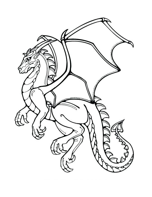 Dragon Coloring Pages Printable Online Free Dragon Coloring Page