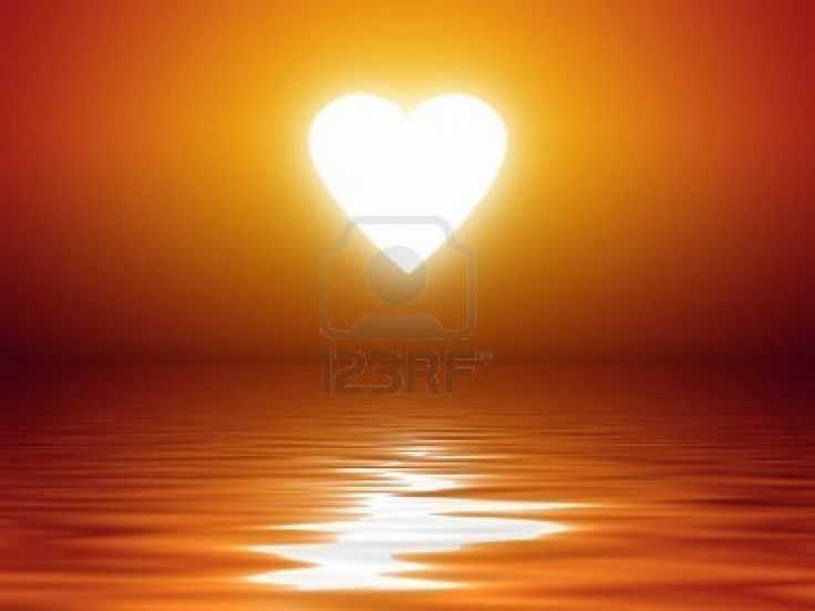 Image detail for -An Image Of A Beautiful Sunset Heart Shape Over The Ocean Royalty Free ...