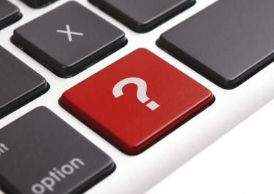 Image of a red question mark key on a keyboard - © pearleye / E+ / Getty Images