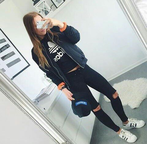 Image Via We Heart It Adidas Clothes Fashion Girl