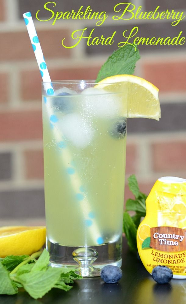 Super easy and LOW CALORIE!! Sparkling Blueberry Hard Lemonade ...