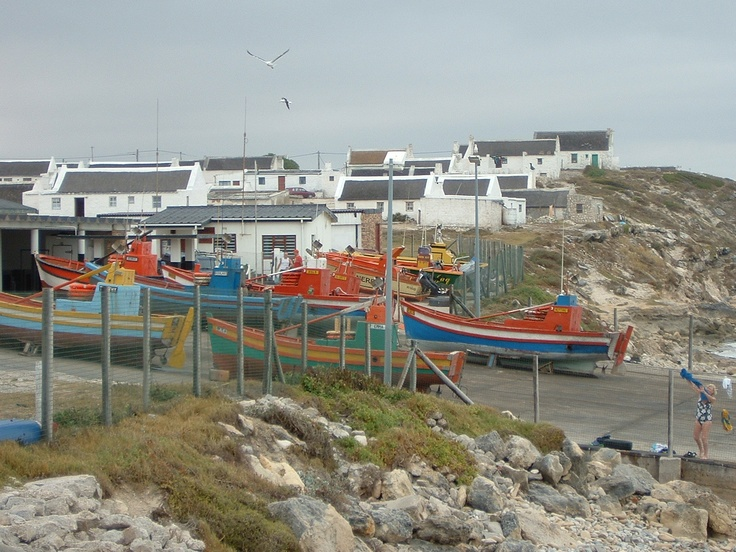 The harbour at Arniston (also known as Waenhuiskrans) in the Overberg