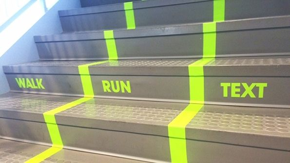 """Sign of the Times: """"Texting lane"""" on university stairway gets huge response 