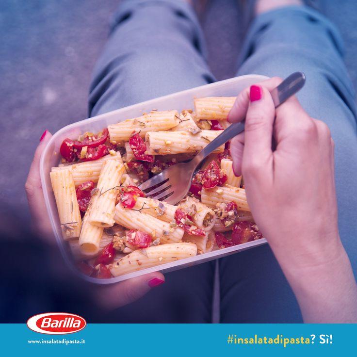 #Insalatadipasta con pesto di erbe e pistacchi #pausapranzo