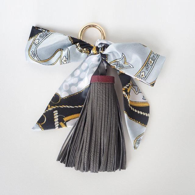 Herald Fashion Women Bag Adornment Ornament Tassel Fringe PU Leather Pendant for Buckle HandBag Bowknot Scarf Bag Accessories