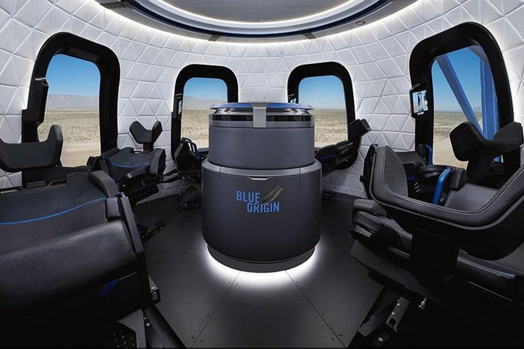 Here's what the New Shepard's space capsule may look like on the inside.