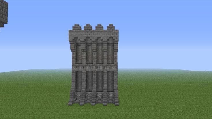 minecraft castles | Minecraft Castle Wall Tutorial - YouTube