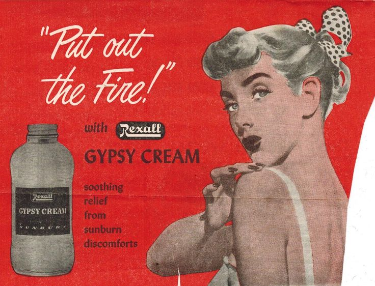 The Midvale Cottage Post: Vintage Advertisements - 1950s Sunburn Cream