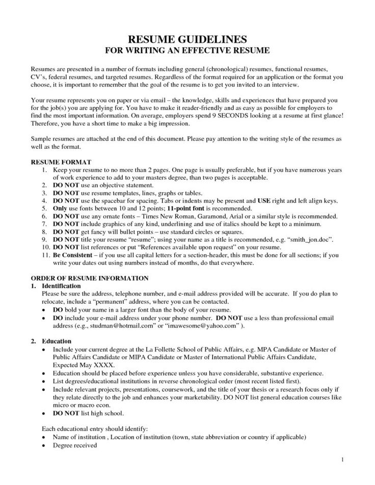 Federal Resume Templates  Resume Template And Professional Resume